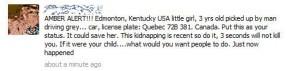 Amber Alert hoax