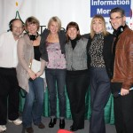 From left to right: Michael Richard LeBlanc, Producer and On-Air Director, Information Morning; Vanessa Blanch, News Editor, Information Morning; Jonna Brewer, Host, Information Morning; Karin Reid-LeBlanc, Executive Producer, Information Morning; Lori Williams, Senior Communications Officer, CBC New Brunswick; Harry Forestell, Anchor, CBC TV News for NB.