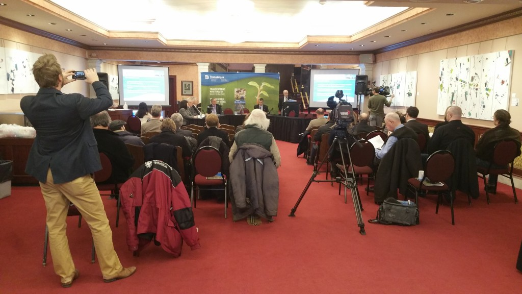 The 2014 Annual General Meeting of TransAqua - the Greater Moncton Wastewater Commission - was held at the Capitol Theatre in Moncton on Friday, March 20, 2015. (Photo by Brian Cormier)